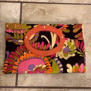 Kate Spade Clutch - Multicolor with Orange Accents